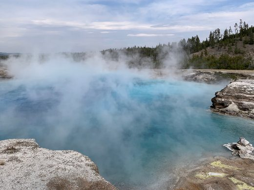 Majestic photo at Yellowstone Prismatic Spring area