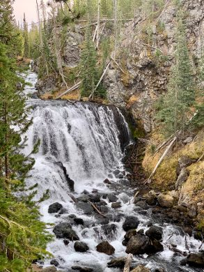 Yellowstone Park Waterfall that I nearly died climbing down
