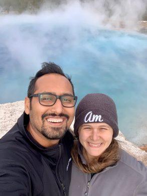 Yellowstone Park with Amanda