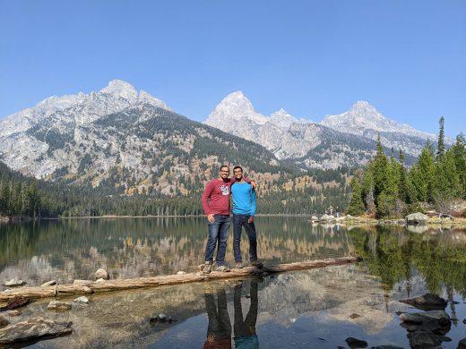 At Lake Taggart with Zain